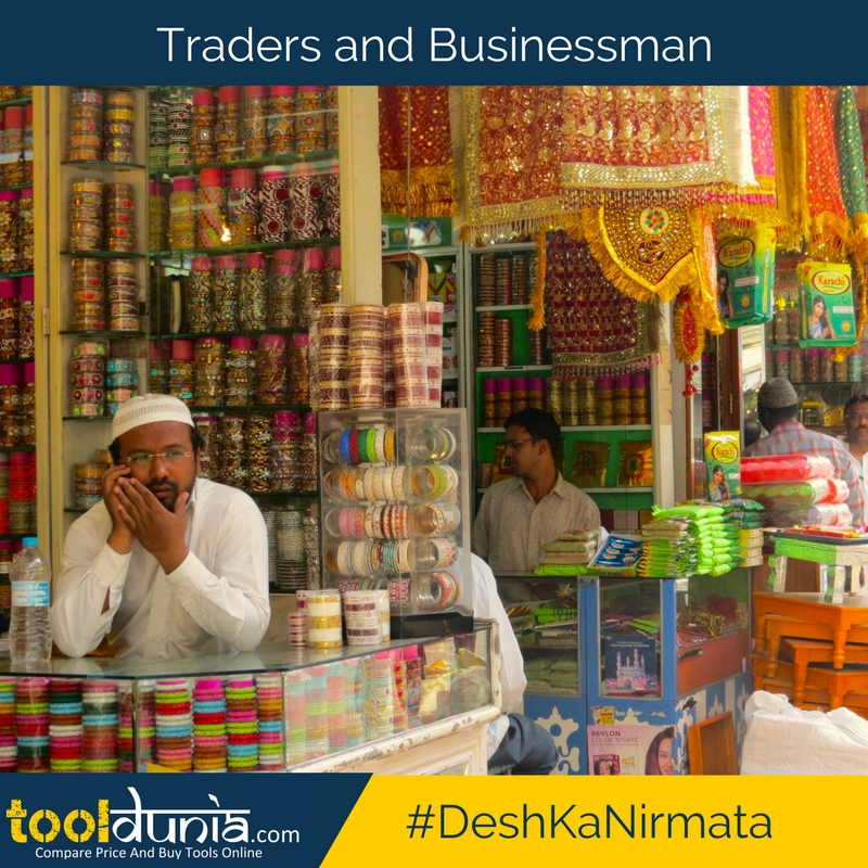 Traders and business man in india are developing India. - Tooldunia.com