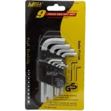 Mega MP-HCV09S Proffesional 9 Piece Hex Allen Key Set  Allen Keys - prices of tools from flipkart, amazon, snapdeal, tolexo, industrybuying, moglix