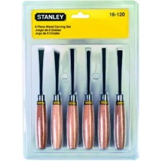 Stanley 16120 6-Piece Wood Carving Set  Chisels - tooldunia