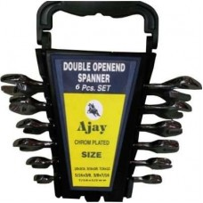 Ajay A100-6A-Rack Double Sided Open End Wrench Set  Wrench and Socket Sets - prices of tools from flipkart, amazon, snapdeal, tolexo, industrybuying, moglix