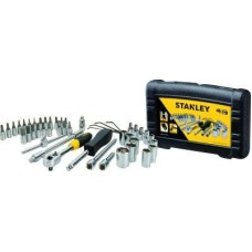 Stanley STMT727948 46-Piece 1/4 Drive Metric Socket Set  Top Must Have Tool Kits. - tooldunia