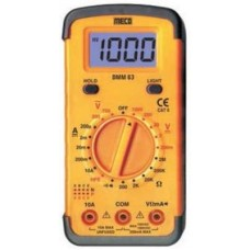 Meco M63 Yellow Digital Multimeter  Multimeters - prices of tools from flipkart, amazon, snapdeal, tolexo, industrybuying, moglix