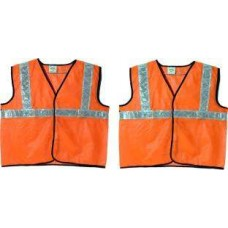 Brite Eye Orange Safety Jacket (Pack Of 2)  Safety Jackets / Vest - prices of tools from flipkart, amazon, snapdeal, tolexo, industrybuying, moglix