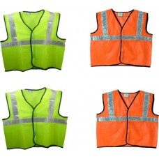 Brite Eye Safety Jacket  (Fluorescent Green, Fluorescent Orange) Pack Of 4  Safety Jackets / Vest - prices of tools from flipkart, amazon, snapdeal, tolexo, industrybuying, moglix