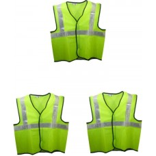 Brite Eye Safety Jacket(Fluorescent Green) Pack Of 3  Safety Jackets / Vest - prices of tools from flipkart, amazon, snapdeal, tolexo, industrybuying, moglix