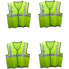 Brite Eye Safety Jacket  (Fluorescent Green) Pack Of 4  Safety Jackets / Vest - prices of tools from flipkart, amazon, snapdeal, tolexo, industrybuying, moglix