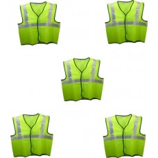 Brite Eye Safety Jacket(Fluorescent Green) Pack Of 5  Safety Jackets / Vest - prices of tools from flipkart, amazon, snapdeal, tolexo, industrybuying, moglix
