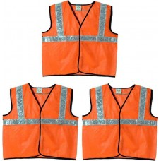 Brite Eye Safety Jacket  (Fluorescent Orange) Pack Of 3  Safety Jackets / Vest - prices of tools from flipkart, amazon, snapdeal, tolexo, industrybuying, moglix