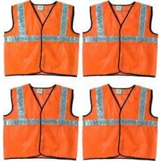 Brite Eye Safety Jacket  (Fluorescent Orange) Pack Of 4  Safety Jackets / Vest - prices of tools from flipkart, amazon, snapdeal, tolexo, industrybuying, moglix