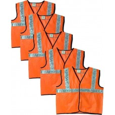 Brite Eye Safety Jacket(Fluorescent Orange) Pack Of 5  Safety Jackets / Vest - prices of tools from flipkart, amazon, snapdeal, tolexo, industrybuying, moglix