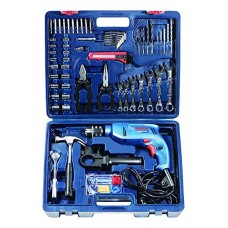 Bosch Mechanic Kit GSB 550 Watt Impact Drill Kit (Blue, 122-Pieces)  Impact Driver - prices of tools from flipkart, amazon, snapdeal, tolexo, industrybuying, moglix