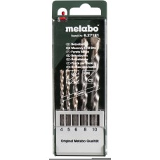 CUMI Metabo Tc Tipped High Perform Concrete Drills 5 Pcs Brad Points Set  Drill Bitts / Brad Points - prices of tools from flipkart, amazon, snapdeal, tolexo, industrybuying, moglix